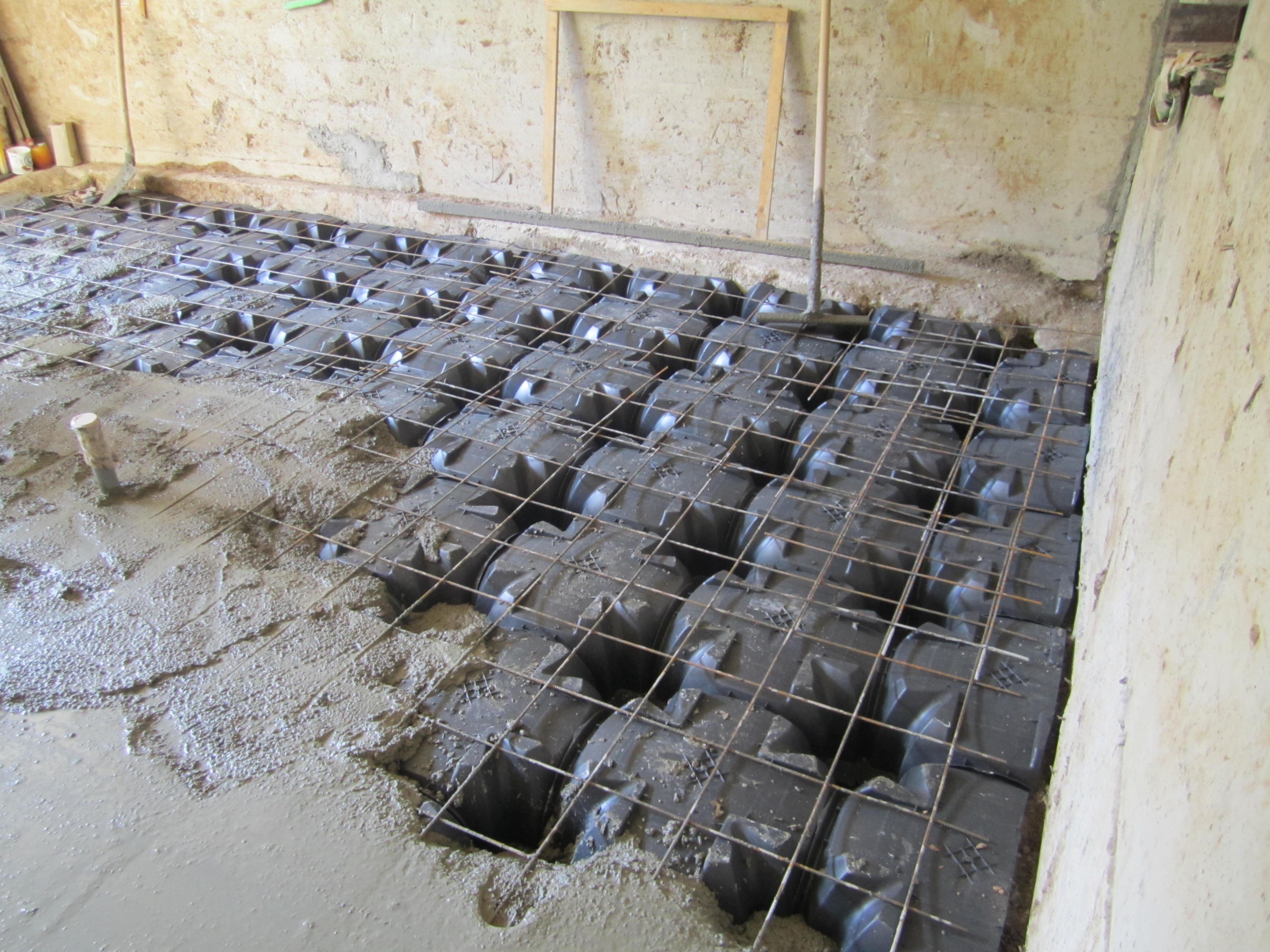 Ristrutturazione,vespaio per pavimento villetta